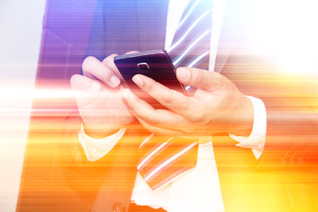 business man phone: Abstract technology concept and ideas,Businessman using smartphone