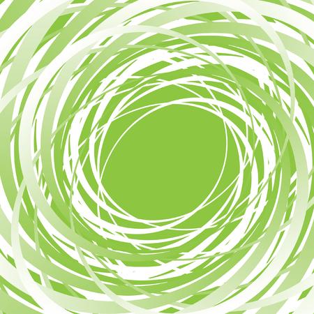 vertigo: Abstract green vector spiral background