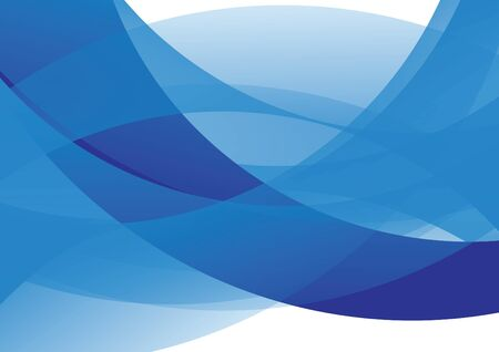 in curved: Abstract vector blue curved background