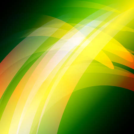abstract waves: Green Waves Abstract Vector Background Illustration