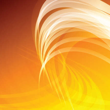 abstract waves: Orange Waves Abstract Vector Background Illustration