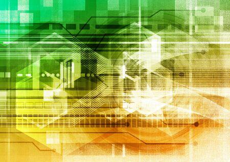 gradient: Futuristic gradient background design Stock Photo