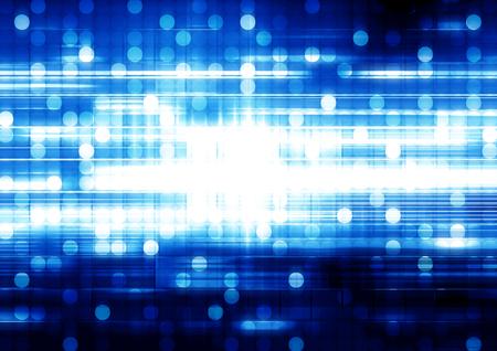 blue circles: Blue circles lights futuristic background