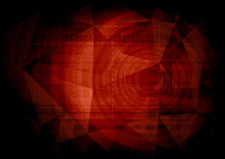 futuristic: Red futuristic background