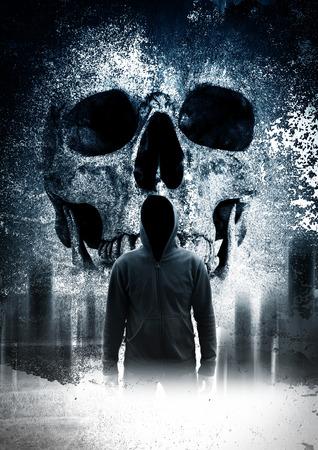 Persona asustadiza en la oscuridad