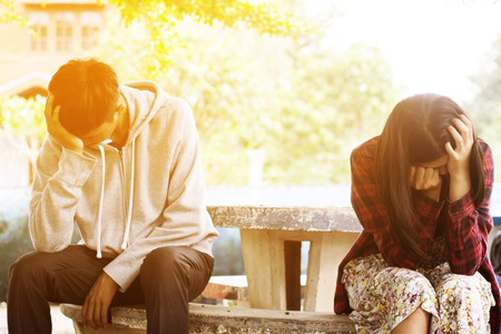 Relationship difficulties or couple problem Standard-Bild