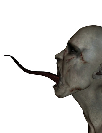 3d illustration of Scary monster isolate on white background