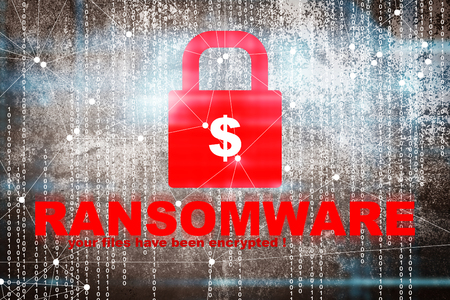 spyware: Ransomware,Cyber security concept