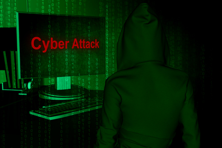 Computer hacker or Cyber attack concept background ,3d illustration Stockfoto