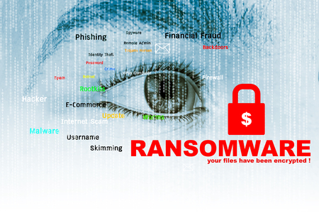Ransomware,Cyber security concept,3d illustration