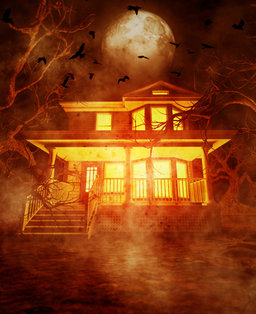 Haunted house,3d illustration