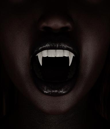 La mujer del vampiro, ilustración 3d Foto de archivo