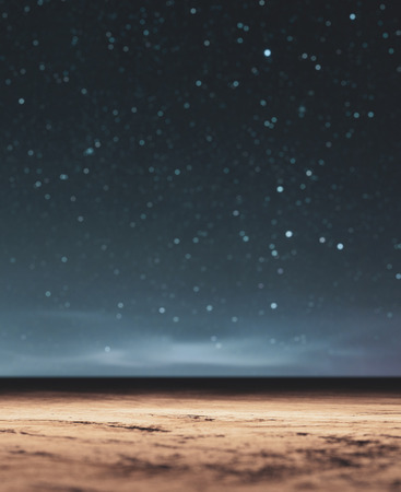 Starry night landscape,3d rendering conceptual background 写真素材 - 120695370