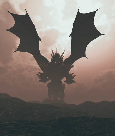 Land of the dragon,3d rendering Stok Fotoğraf