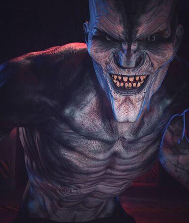 3d rendering of a Monster in the dark Zdjęcie Seryjne