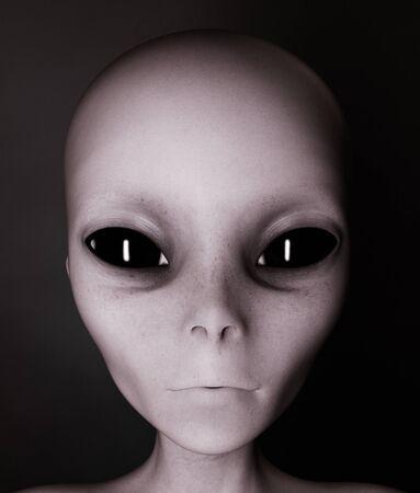 Alien, Frau von der Außenwelt, 3D-Rendering