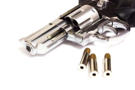 magnum: Revolvers isolated on white background