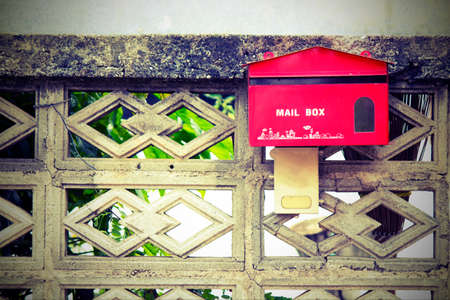 await: Mail box red