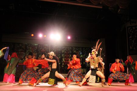 malay village: Aboriginal dance Sarawak