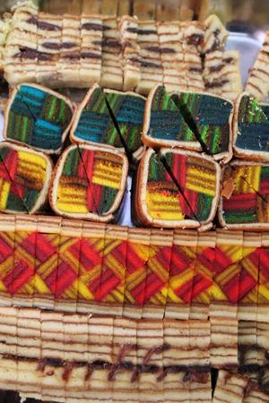 lapis: Sarawak layer cake close up Stock Photo