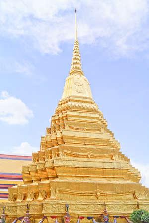 in wat phra kaew: Stupa in the Emerald Buddha Temple  Wat Phra Kaew .