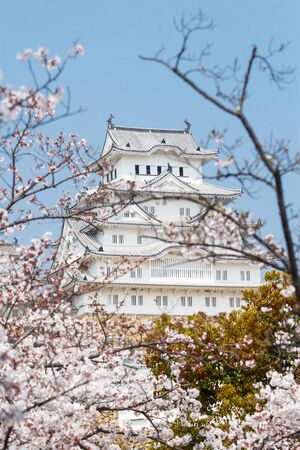 Himeji Castle, also called the white Heron castle, Japan.