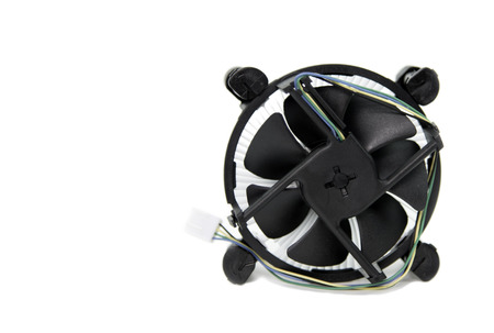 CPU cooling fan isolated on white background Stock Photo