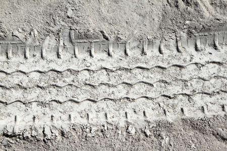 sandy soil: footprints