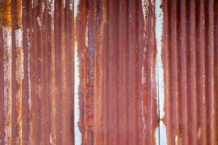 metal sheet: Rusty corrugated metal sheet wall background