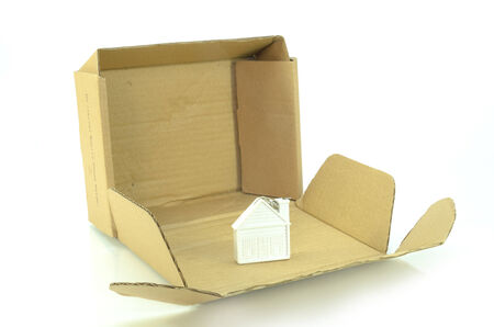 paper art projects: home icon in box