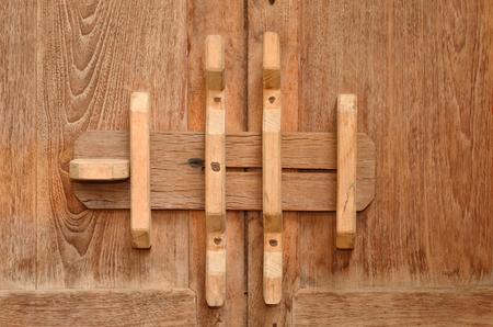 water stained: old lock door