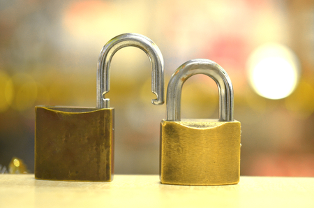 safty: lock of love concept