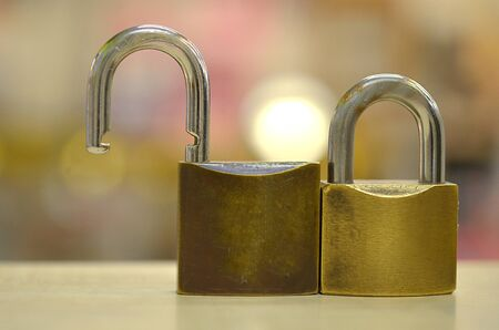 safty: lock of couple concept