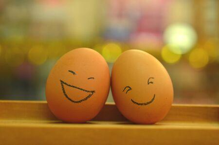 smile face: eggs  smile face Stock Photo