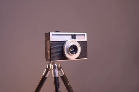 full frames: retro film camera Stock Photo