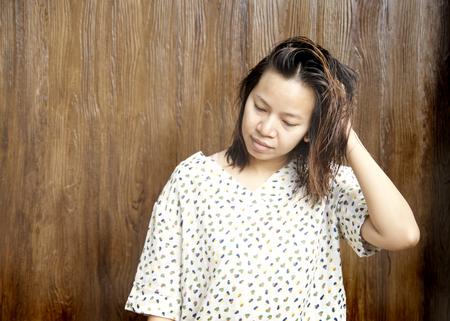 drowsy: women be drowsy Stock Photo