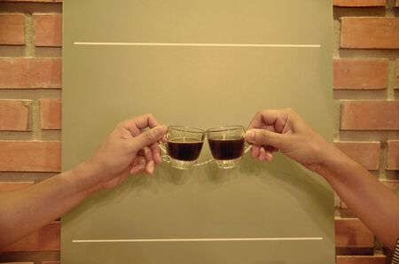 clink: coffee clink glasses