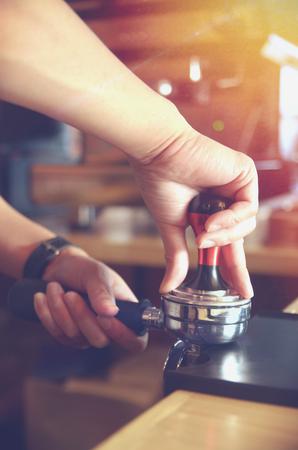 바리 스타 각인 커피