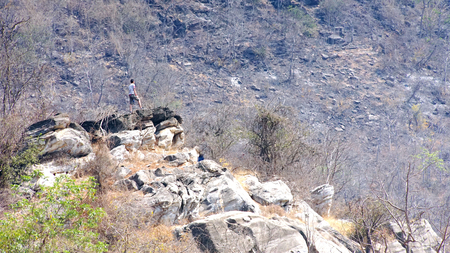 Limestone mountain .nature background
