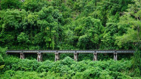 World War II railway route in Kanchanaburi, Thailand. It landmark of Thailand Zdjęcie Seryjne