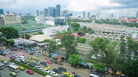 JATUJAK MARKET, THAILAND - AGUST 10 2019 : TOP views of JATUJUK market in Bangkok. JJ market of landmark shopping in BANGKOK