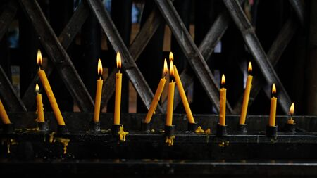 Advent Candles stick  In Church