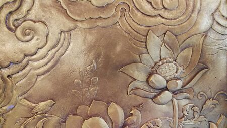 Thai art, temple, background pattern decoration for Buddha temple  .
