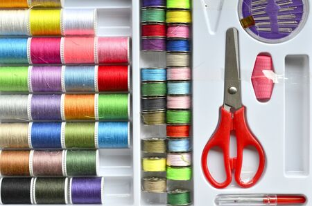 thread and sewing tools ,Diy hand made concept