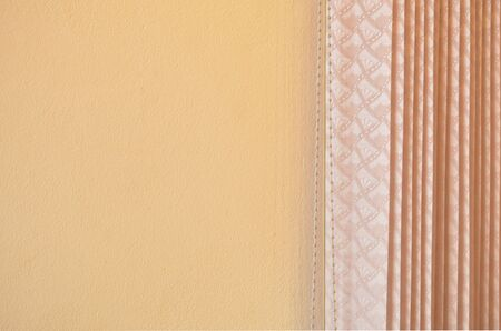 Curtain front orange wall ,Backgrond photo in minimal color style