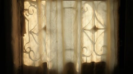 Sunlight  through the curtains.Abstract background idea