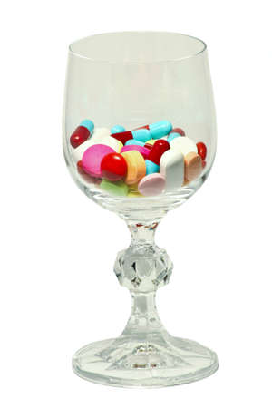 glass of medicines Stock Photo - 13906910