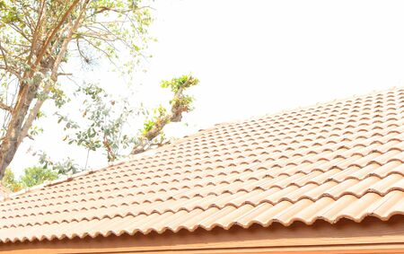 roof tiles: roof tiles of   house Stock Photo