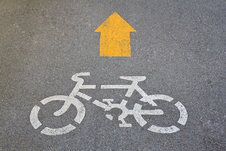 Lane for bicycle drivers