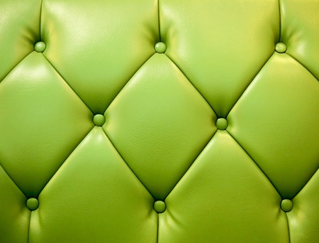 green picture of genuine leather upholstery